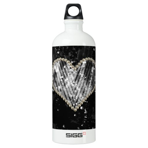 Silver Pearl Heart SIGG Traveler 1.0L Water Bottle