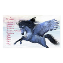 pegasus, wings, flight, fable, horse, magic, fantasy, fairytale, creature, myth, mythology, stallion, equine, equus, steed, animal, mount, wild, beast, beautiful, beauty, charger, image, picture, illustration, pegasi, Business Card with custom graphic design