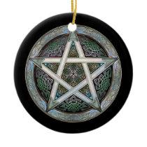 Silver Pentacle Pendant/Ornament Ceramic Ornament