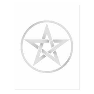 silver pentacle postcard