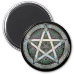 Silver Pentacle Round Magnet
