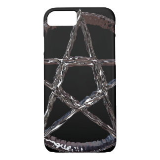 Silver Pentagram iPhone 7, Barely There iPhone 8/7 Case