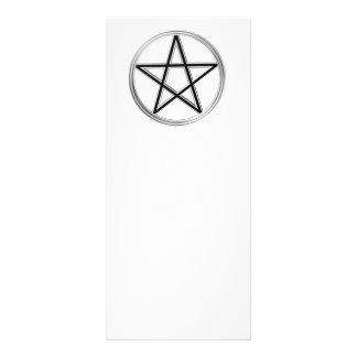 Silver pentagram rack card