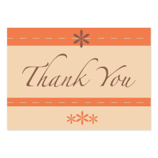 Silver Peony Coral Thank You note Card Large Business Cards (Pack Of 100)