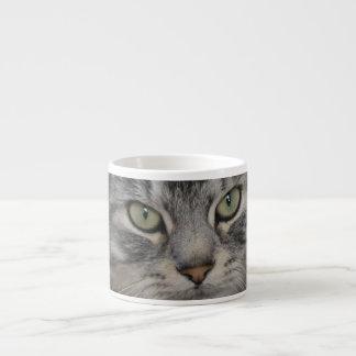 Silver Persian Cat Face Espresso Mug