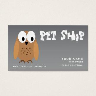 Silver Pet Shop Business Card