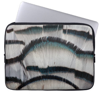 Silver Pheasant feathers Computer Sleeve
