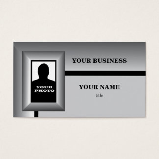 Silver Photo Frame Template Business Card