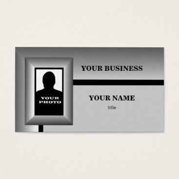 Professional Business Silver Photo Frame Template Business Card