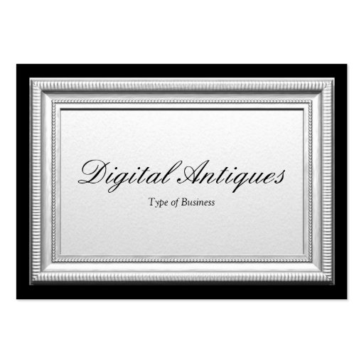 Silver picture frame large business card zazzle for Business card picture frame