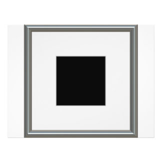 silver picture frame layout flyer