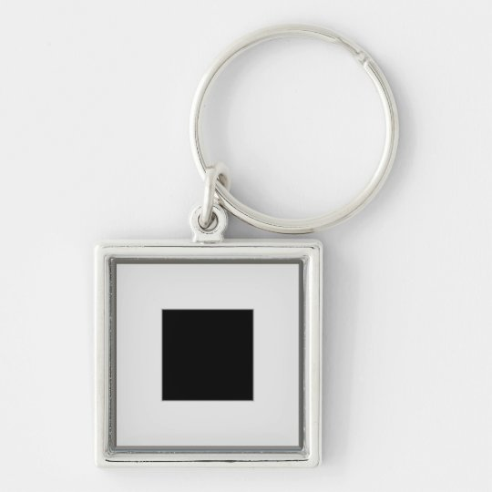 silver picture frame layout keychain