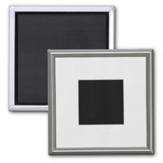 silver picture frame layout magnet
