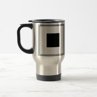 silver picture frame layout mug