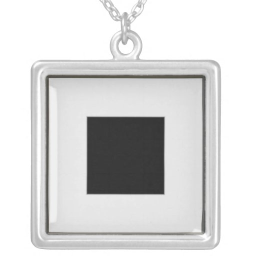 silver picture frame layout personalized necklace