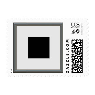 silver picture frame layout postage stamp