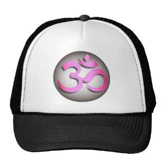 Silver & pink aum tshirts in short or long sleeve trucker hat