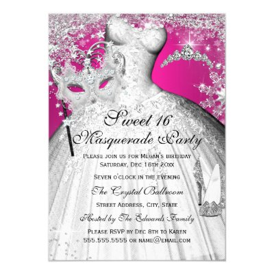 Pink Ball Gown High Heel Shoes Pink Quinceanera Card | Zazzle.com