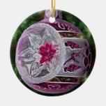 Silver Pink White Reflector Bulb Christmas Tree Ornaments