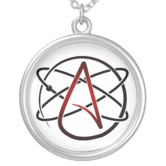 Silver Plated Atheist Necklace