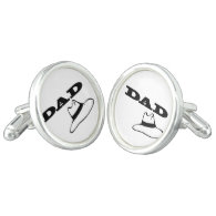Silver Plated Dads Cufflinks