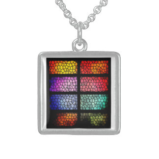 silver plated design necklace