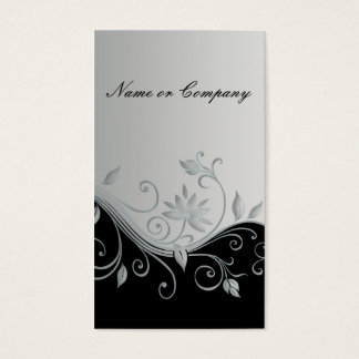 Silver-plated nature business card