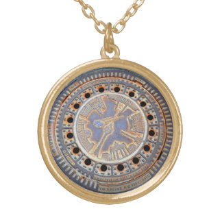 Silver Plated Round Necklace Berlin hatch