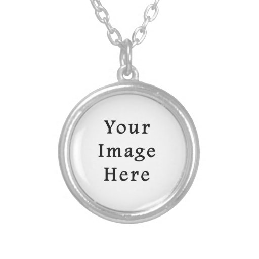 Silver Plated Round Necklace Small - Customized