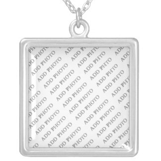 Silver Plated Sm Square Necklace Create Your Own