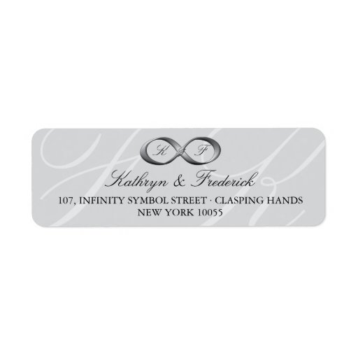 Silver Platinum Infinity Hand Clasp Wedding Labels Labels