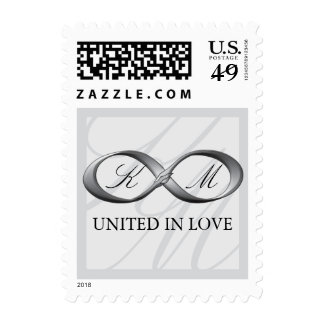 Silver Platinum Infinity Hand Clasp Wedding Stamps