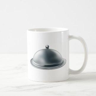 Silver platter illustration mug