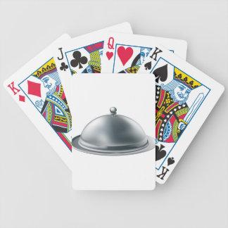 Silver platter illustration poker deck