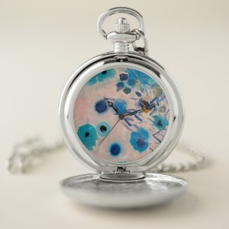 Silver Pocket watch with Art design