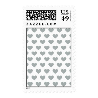 Silver Polka Dot Hearts Postage