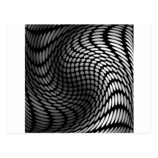 Silver polka dot wrap artwork postcard