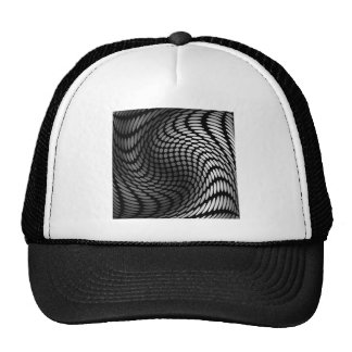 Silver polka dot wrap artwork trucker hat