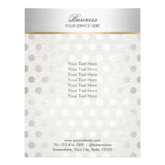 Silver Polka Dots Classy Linen Salon Spa Brochures