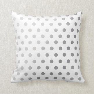 Silver  Polka Dots Pattern Pillow