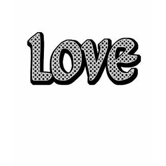 Silver Polkadot Love shirt