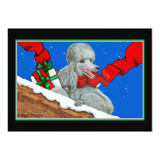 Silver Poodle Christmas Card /Invitation