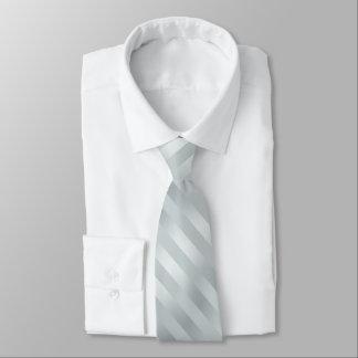 Silver Powder Blue Grey Striped Tie