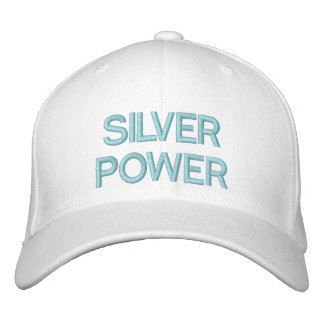 SILVER POWER - CAP by eZaZZleMan Embroidered Hats