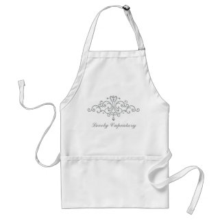 Silver Princess Filigree Adult Apron