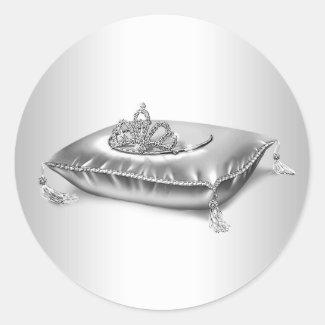 Silver Princess Tiara Stickers