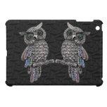Silver Printed Owls & Jewels iPad Mini Case