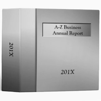 Silver Professional Business Binder