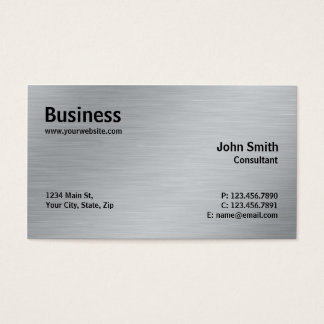 Silver Professional Elegant Metal Modern Plain Business Card