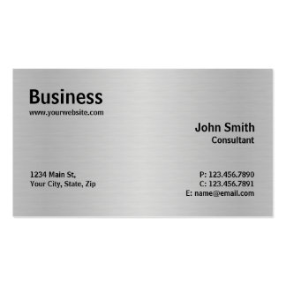 Silver Professional Metal Elegant Modern Plain Business Card Templates